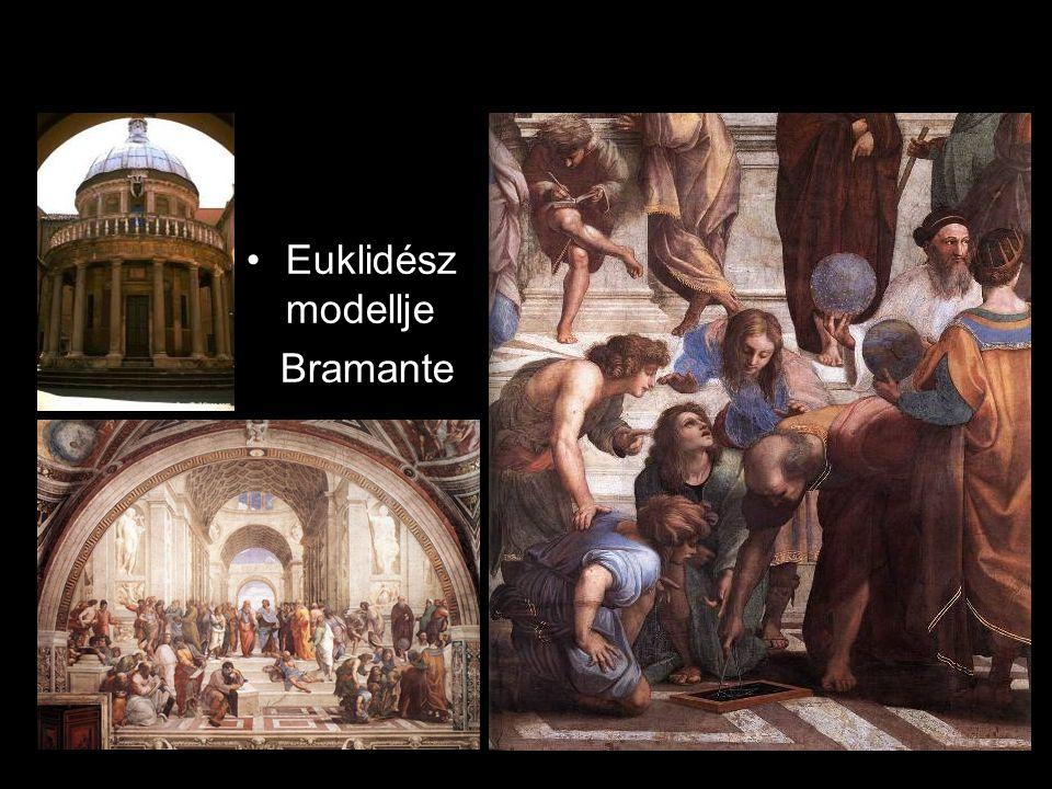 •Euklidész modellje Bramante