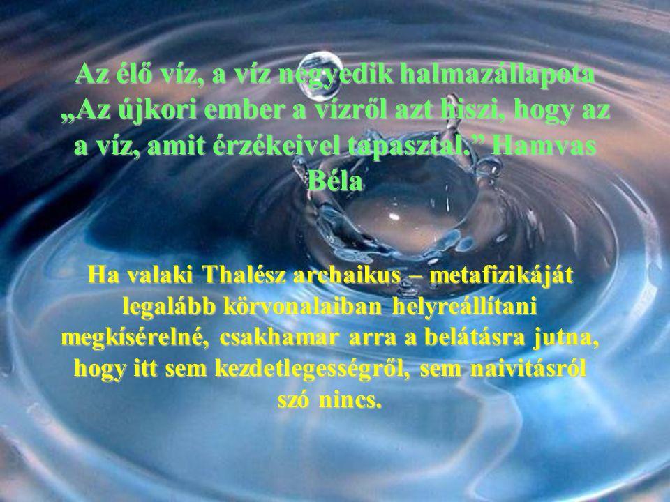 A víz a rezgések ruháját hordja.