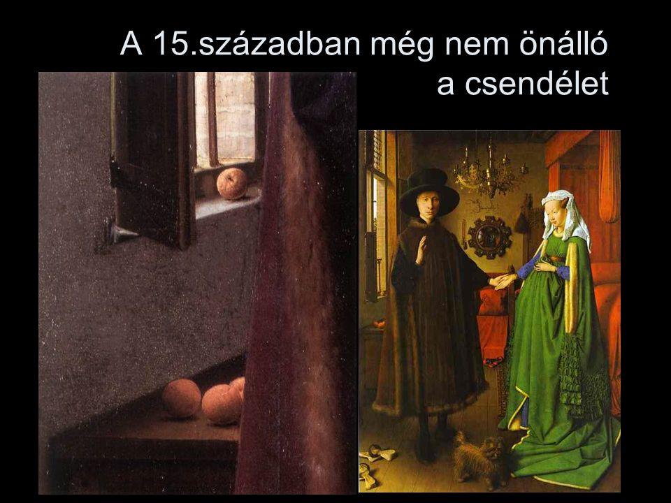 A 15.században még nem önálló a csendélet