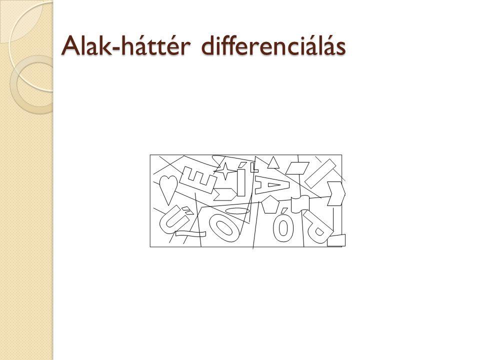 Alak-háttér differenciálás