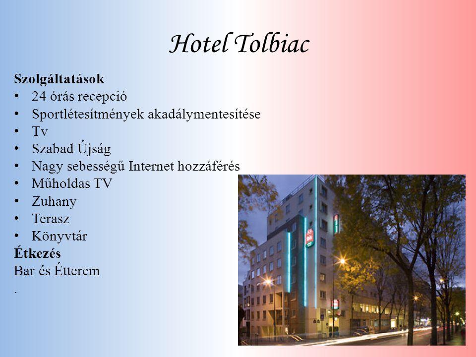 Hotel Tolbiac Szolgáltatások • 24 órás recepció • Sportlétesítmények akadálymentesítése • Tv • Szabad Újság • Nagy sebességű Internet hozzáférés • Műh