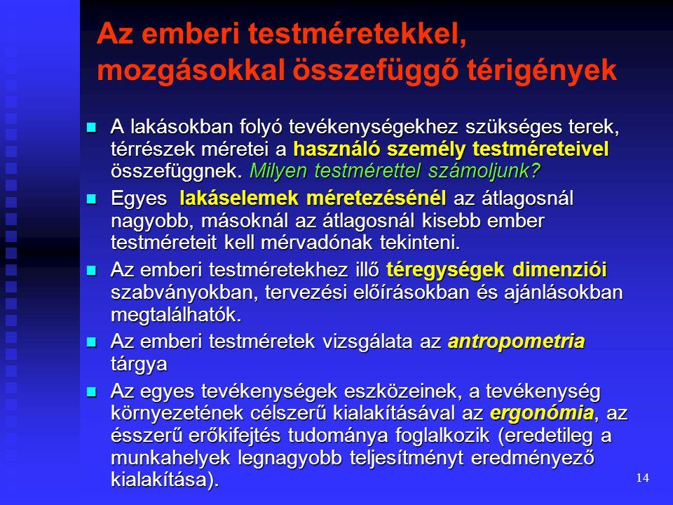 13 Ábra. A méretrend- szerek és az ISO szerinti méretrend összehason- lítása