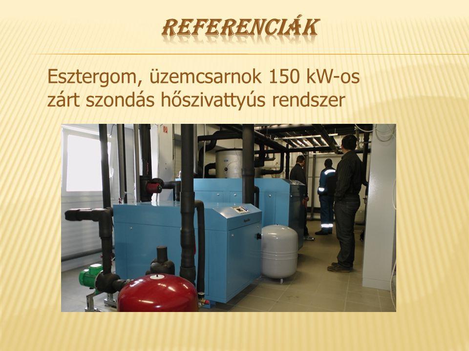 Esztergom, üzemcsarnok 150 kW-os zárt szondás hőszivattyús rendszer