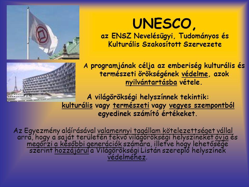 UNESCO, az ENSZ Nevelésügyi, Tudományos és Kulturális Szakosított Szervezete Az Egyezmény aláírásával valamennyi tagállam kötelezettséget vállal arra,