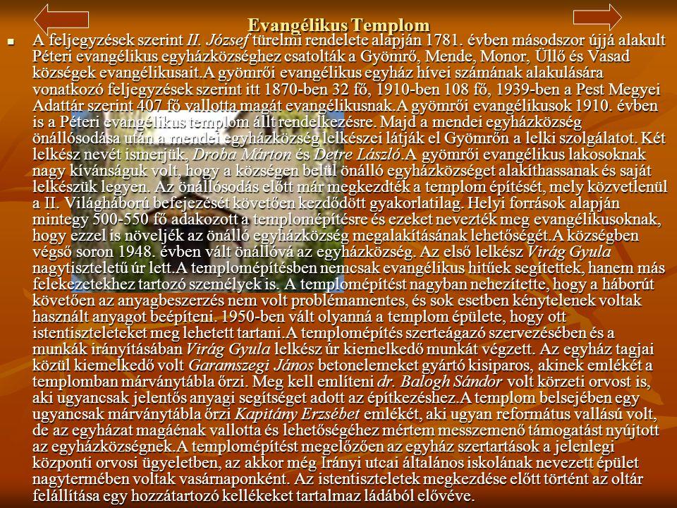 Jézus Szíve Római Katolikus Plébániatemplom  A telep felépülésével a meglévő templom szűknek bizonyult, ezért elhatározták, hogy új templomot építene
