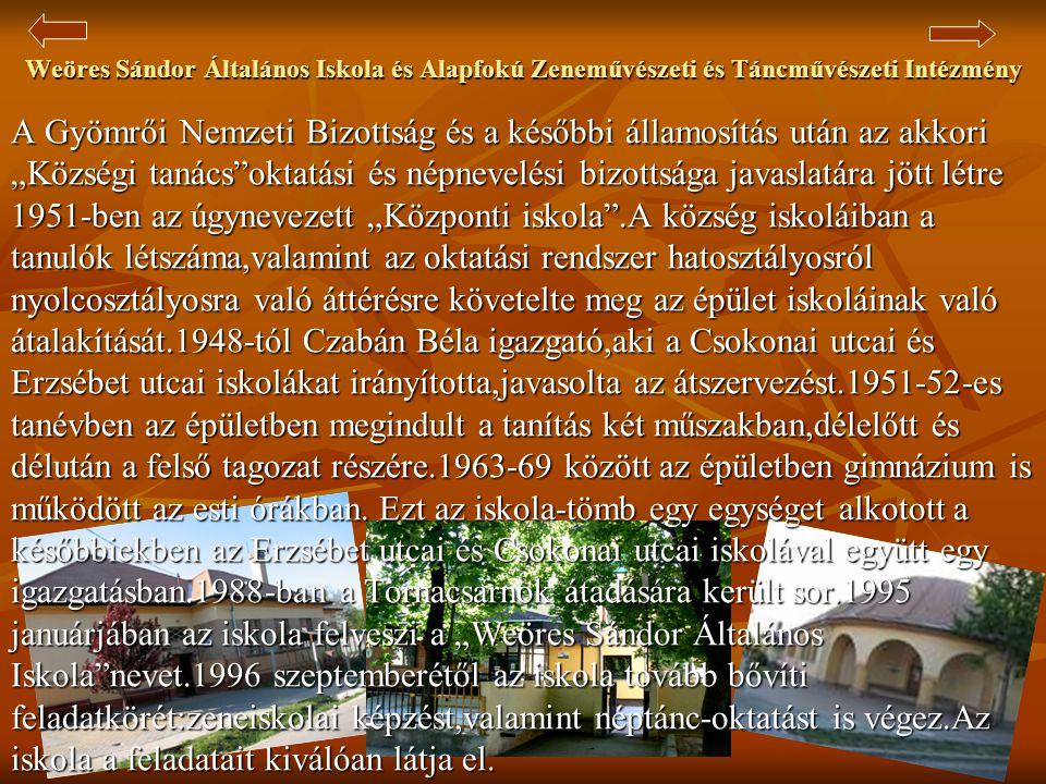 Jézus Szíve Római Katolikus Plébániatemplom  A telep felépülésével a meglévő templom szűknek bizonyult, ezért elhatározták, hogy új templomot építenek.A templom építésének gondolata az 1910-es évekre nyúlik vissza, azonban érdemben csak Prause József plébános Gyömrői működése alatt vált valóra.Ő 1929-ben először a kultúrházat építi fel, itt tartották az istentiszteletet a templom felépüléséig.A templom terveit Lechner Lóránt készítette.1935-ben gróf Széchenyi Gyula építési vállalata elvégezte a statikai számítást és elkészítette a költségvetést és a részletterveket.A kivitelezési munkák levezetésére Horváth Imre és Schulok Mihály kaptak megbízást.A kitűzés 1935.