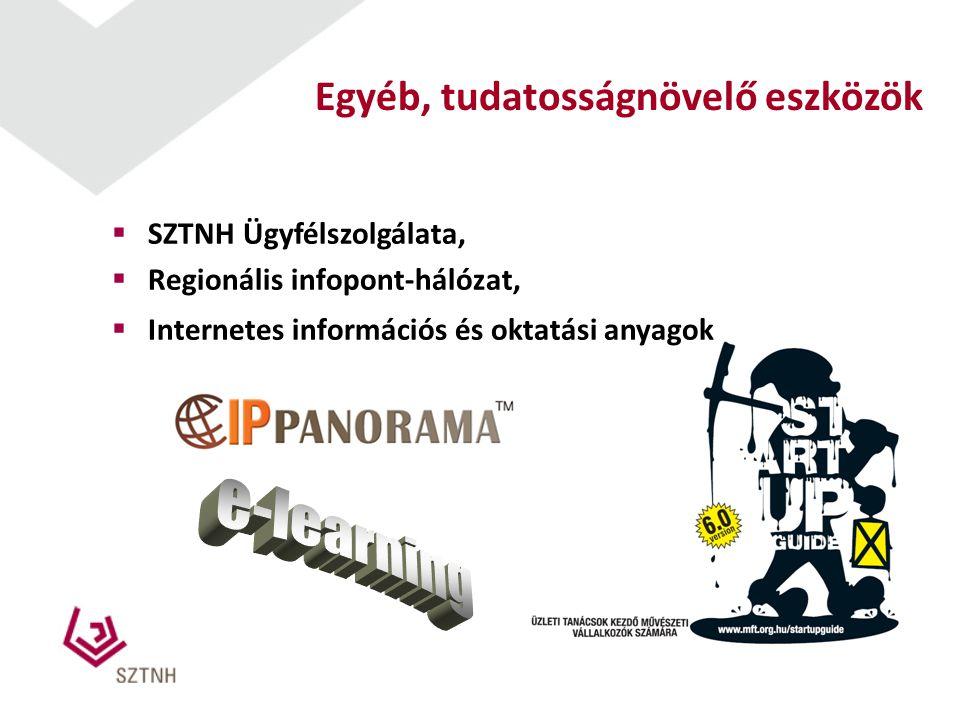  SZTNH Ügyfélszolgálata,  Regionális infopont-hálózat,  Internetes információs és oktatási anyagok Egyéb, tudatosságnövelő eszközök