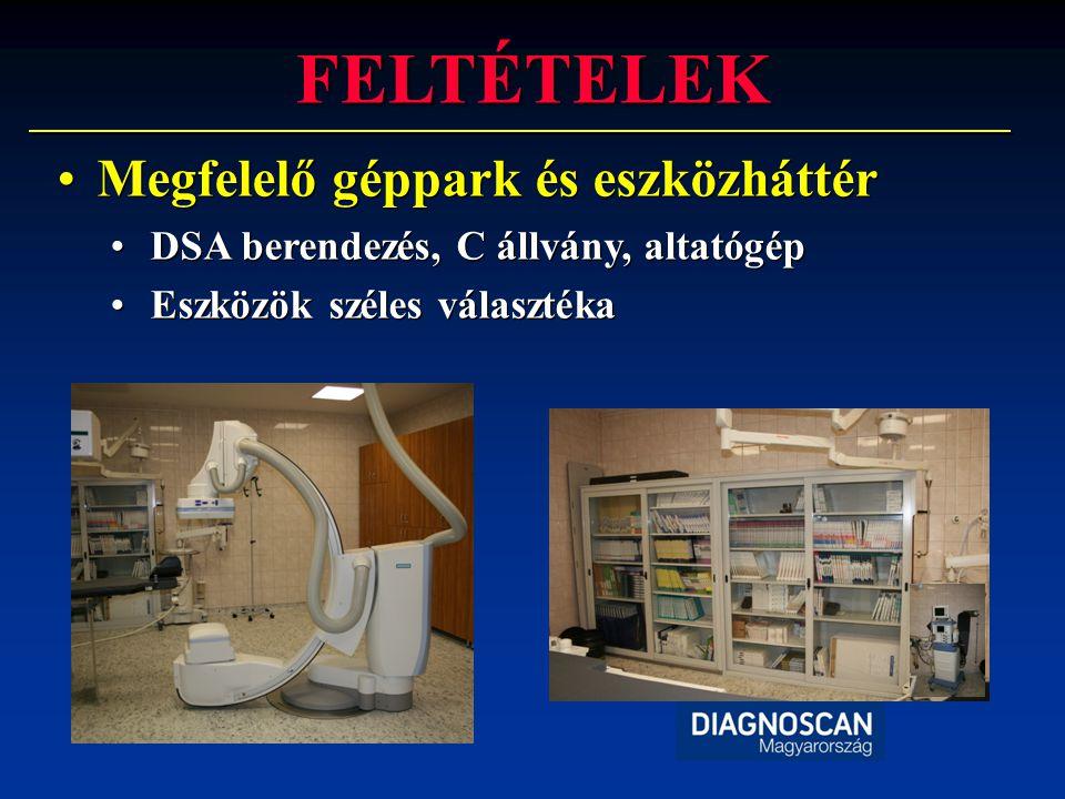 FELTÉTELEK •Képzett személyzet •Intervencióban jártas radiológusok •Műtős rtg.