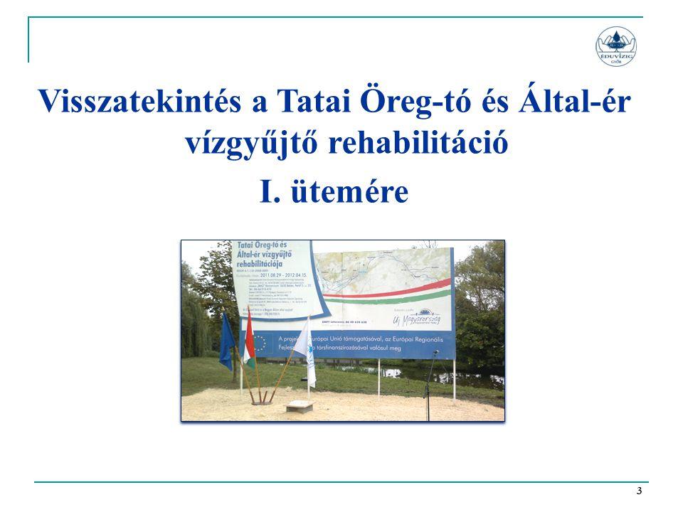 3 Visszatekintés a Tatai Öreg-tó és Által-ér vízgyűjtő rehabilitáció I. ütemére