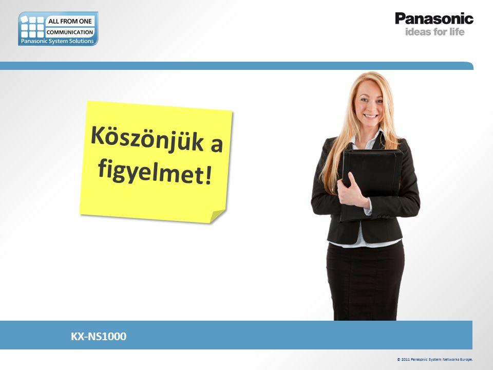 Köszönjük a figyelmet! © 2011 Panasonic System Networks Europe. KX-NS1000