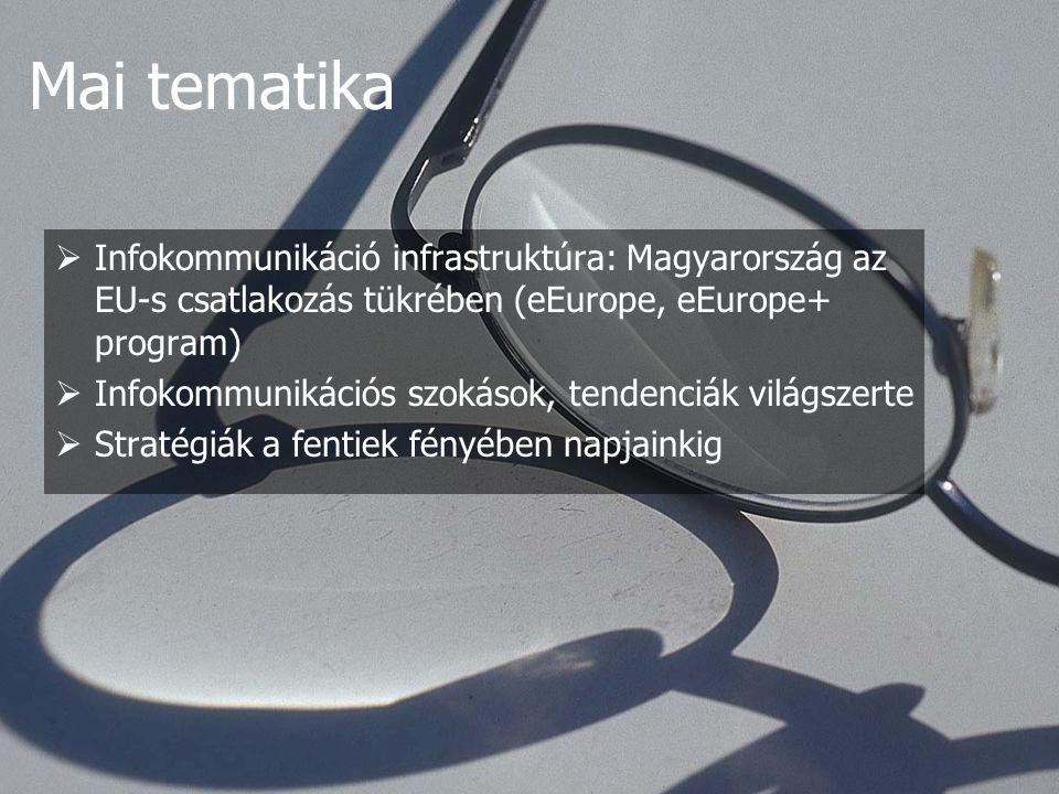 3.) Magyar válasz - 1998-ban készült új koncepcióval, de a korábbi ismeretek hasznosítva, rendszerezve, majd 1999 decemberében készült el a Magyar Válasz az információs társadalom kihívásaira.
