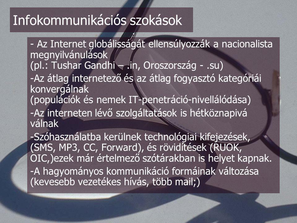 - Internetes Kapuk szerepe kerül előtérbe (gyűjteményes oldalak, kivonatok (De.