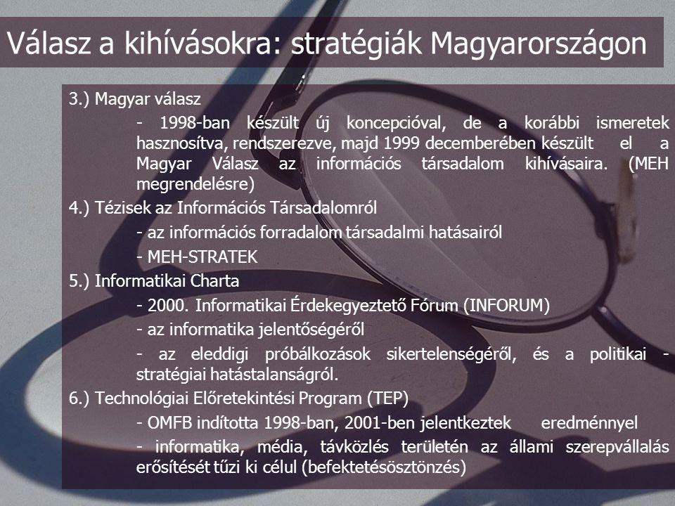"""Az eMagyarország összhangban az Európai Unió """"eEurope2005: Információs társadalom mindenki számára elnevezésű programjával az elektronikus szolgáltatások megvalósítása és mindenki számára elérhetővé tételét állítja a stratégia középpontjába."""