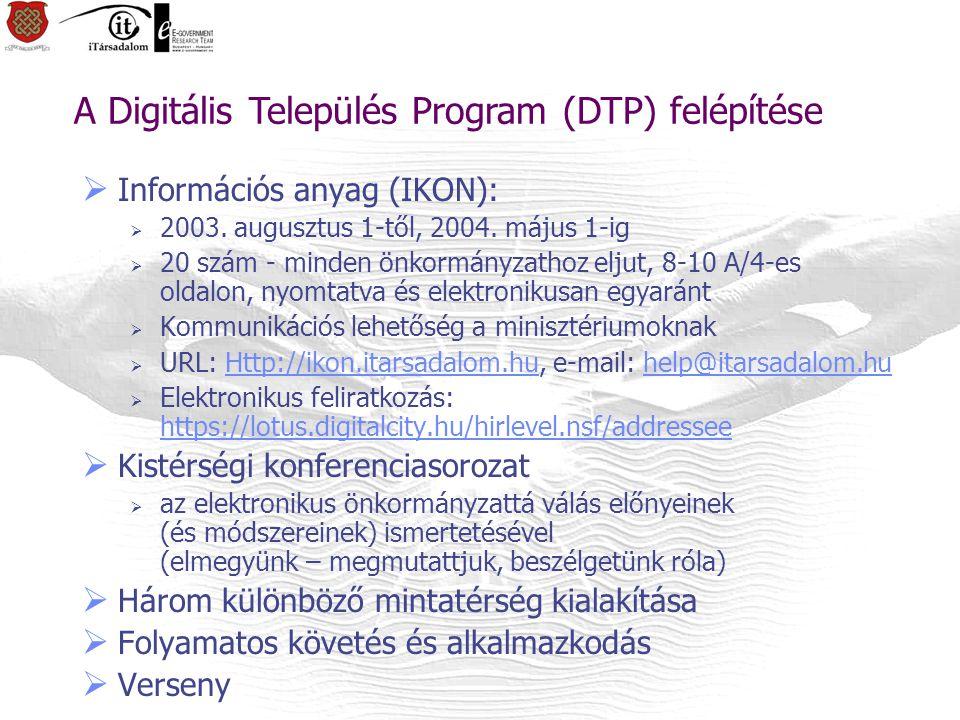  Információs anyag (IKON):  2003.augusztus 1-től, 2004.