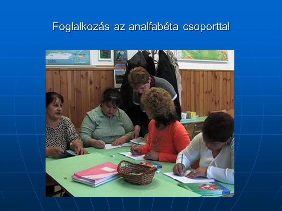 Foglalkozás az analfabéta csoporttal