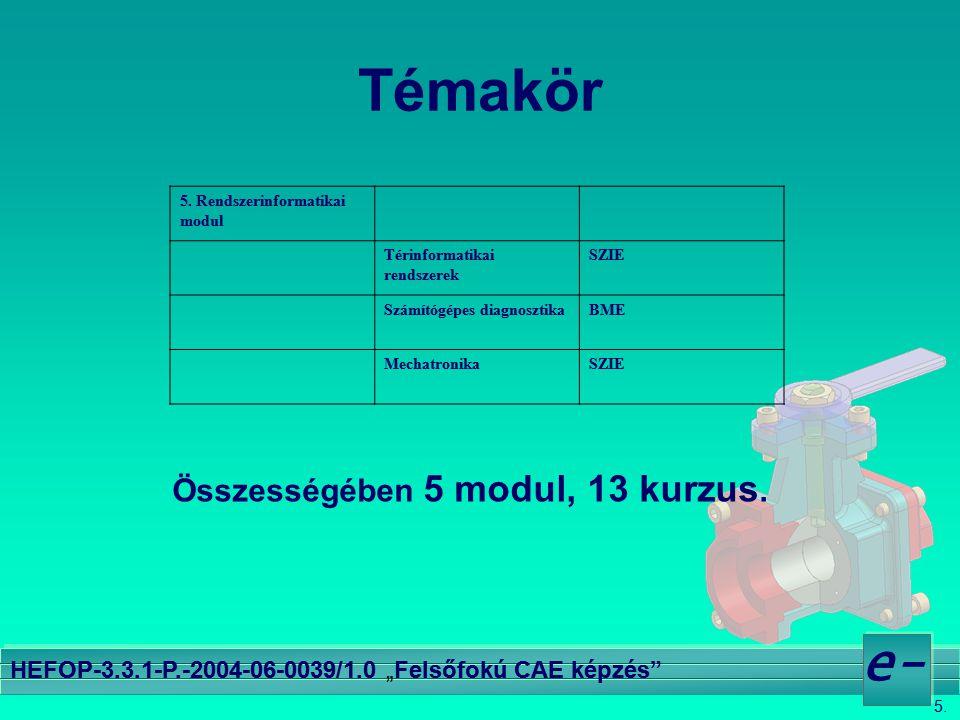 """5. e- HEFOP-3.3.1-P.-2004-06-0039/1.0 """"Felsőfokú CAE képzés"""" Témakör 5. Rendszerinformatikai modul Térinformatikai rendszerek SZIE Számítógépes diagno"""