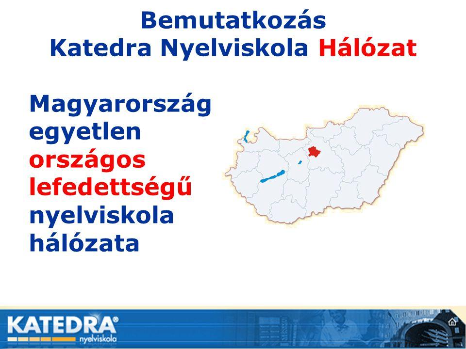 Bemutatkozás Katedra Nyelviskola Hálózat Magyarország egyetlen országos lefedettségű nyelviskola hálózata