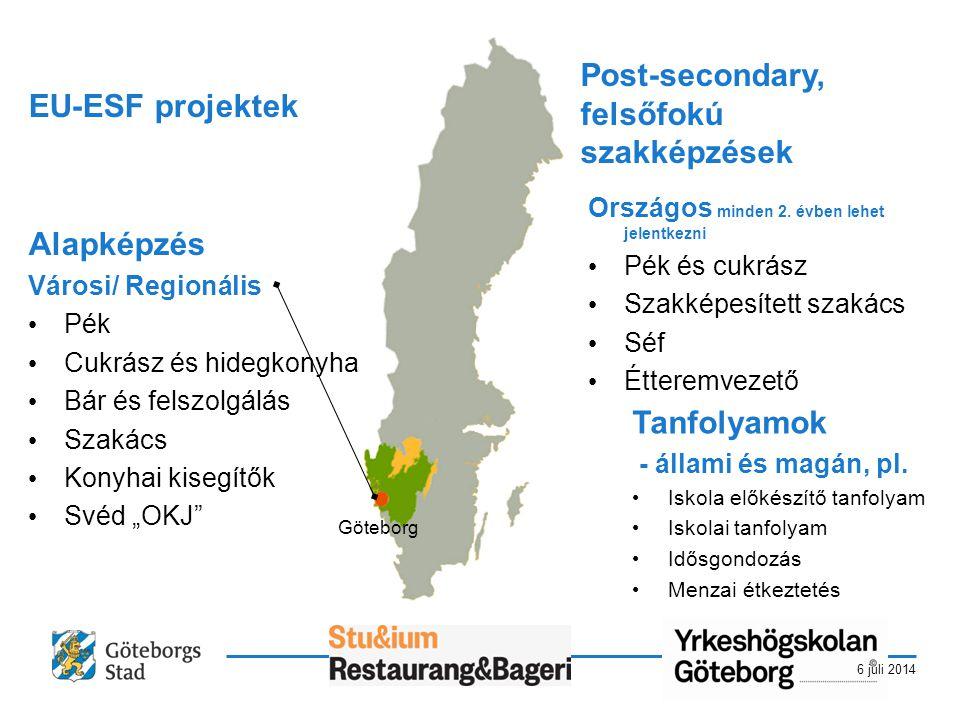 6 juli 2014 Post-secondary training Országos minden 2.