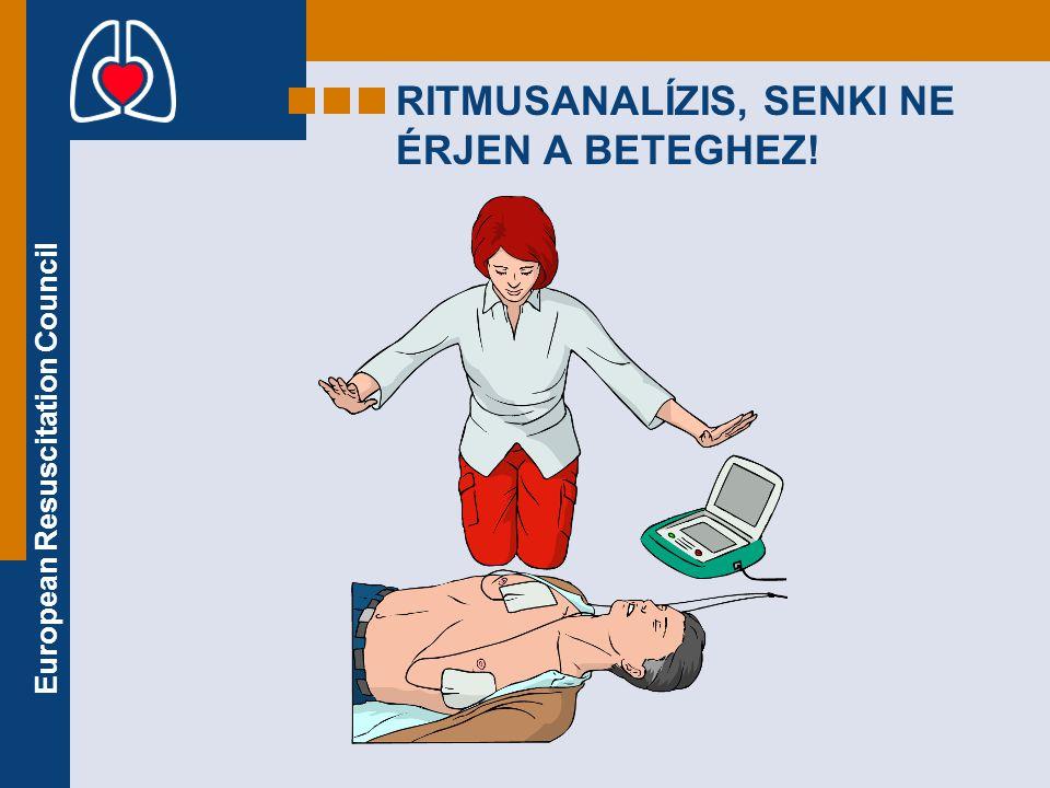 European Resuscitation Council RITMUSANALÍZIS, SENKI NE ÉRJEN A BETEGHEZ!