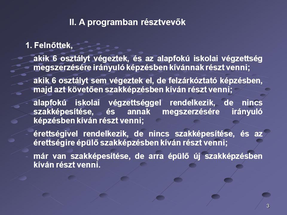 A Békéscsabai Regionális Képző Központ és a Csongrád Megyei Munkaügyi Központ megállapodása alapján 2006-ban indult megkezdődött és lezárt képzések 1 4 szakirányban 23 tanfolyam indult.