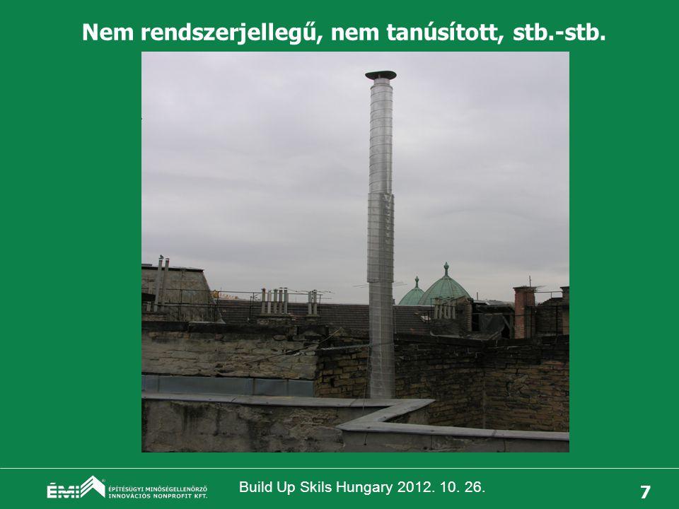 Build Up Skils Hungary 2012. 10. 26. 8 Tetőn kívüli szakasz szabálytalan kialakítása, dőlésveszély