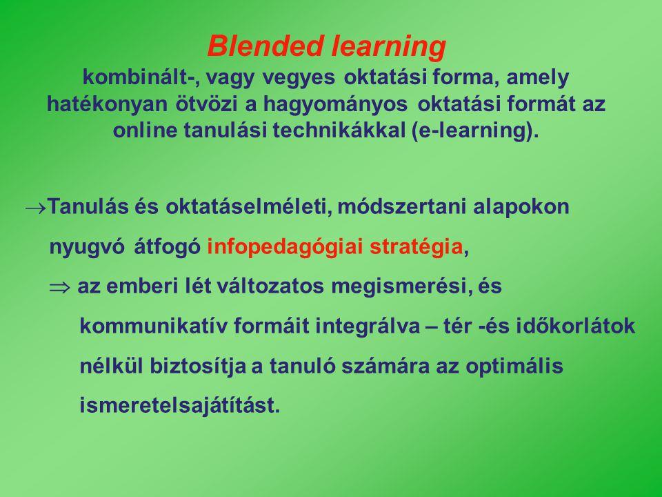  Tanulás és oktatáselméleti, módszertani alapokon nyugvó átfogó infopedagógiai stratégia,  az emberi lét változatos megismerési, és kommunikatív for