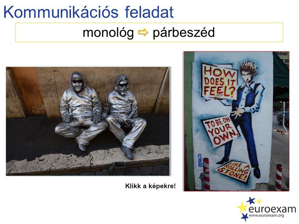 Kommunikációs feladat  monológ  párbeszéd Klikk a képekre!