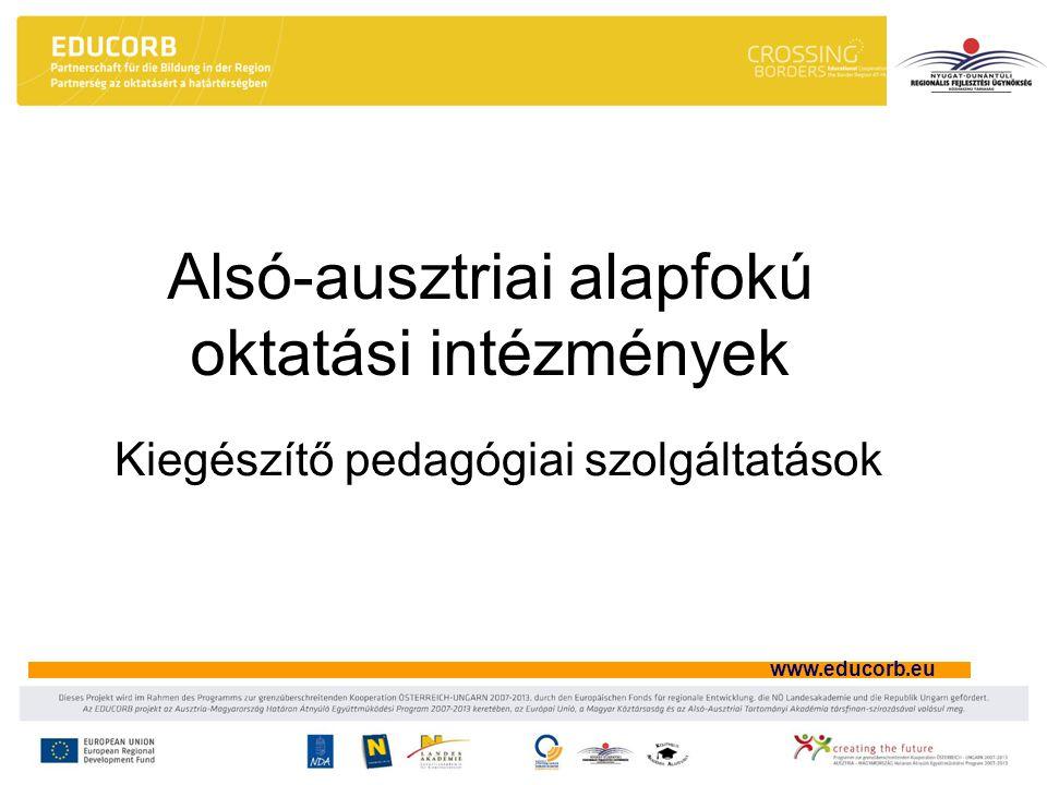 www.educorb.eu Alsó-ausztriai alapfokú oktatási intézmények Kiegészítő pedagógiai szolgáltatások