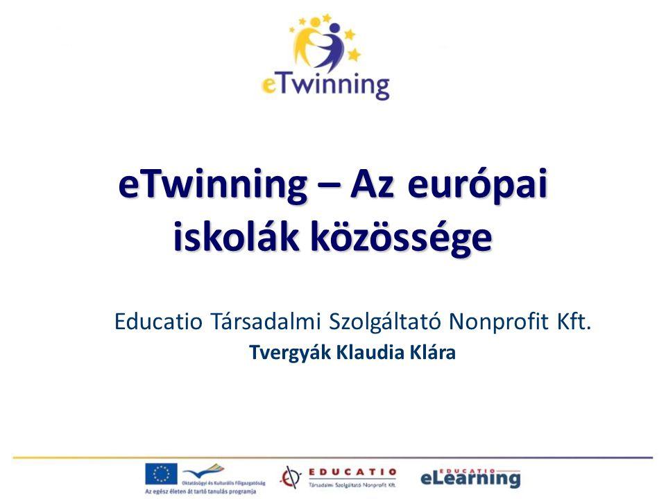 eTwinning – Az európai iskolák közössége Educatio Társadalmi Szolgáltató Nonprofit Kft. Tvergyák Klaudia Klára