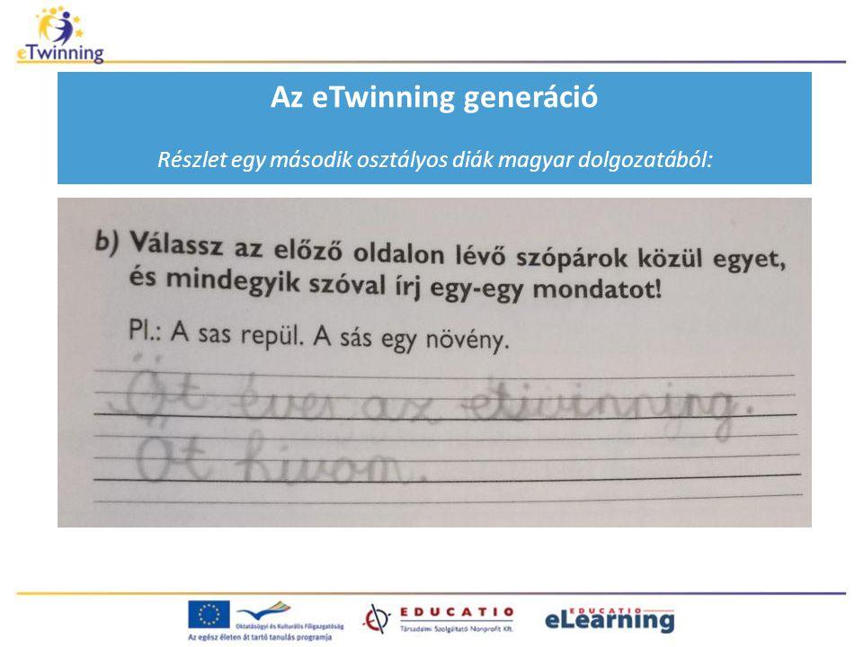 Az eTwinning generáció Részlet egy második osztályos diák magyar dolgozatából: