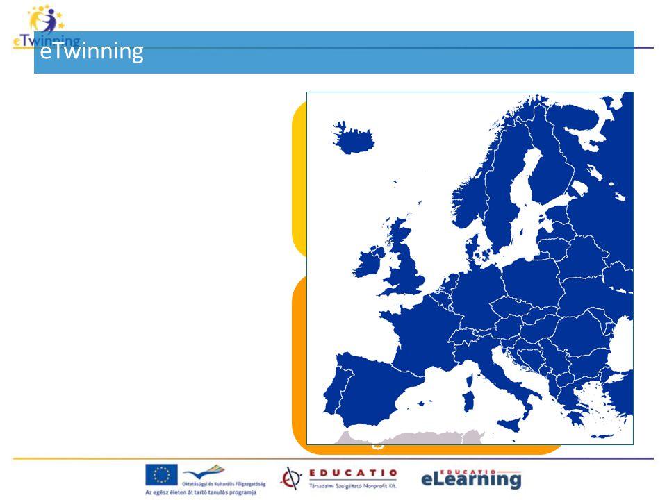 Célok: - Információs és Kommunikációs Technológiák (IKT) alkalmazása - Pedagógiai értékű tevékenység létrehozása egy tetszőlegesen választott témában Legalább két európai ország legalább két közoktatási intézménye (iskolája vagy óvodája) közötti hosszú vagy rövid távú együttműködés eTwinning