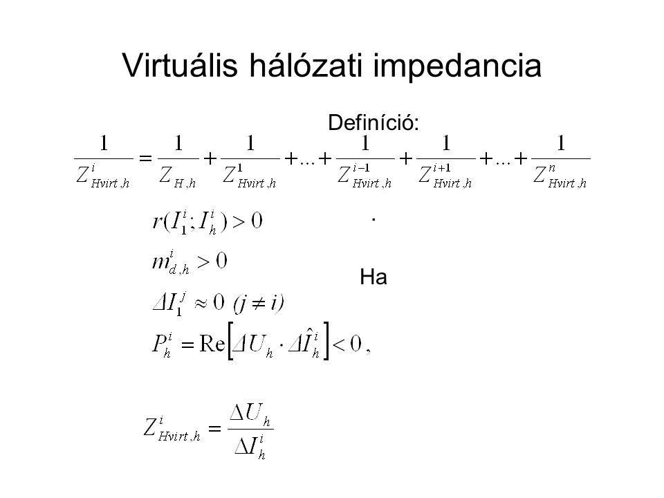 Virtuális hálózati impedancia Definíció:. Ha akkor