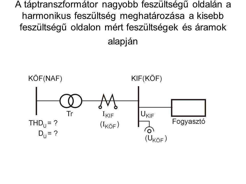 A táptranszformátor nagyobb feszültségű oldalán a harmonikus feszültség meghatározása a kisebb feszültségű oldalon mért feszültségek és áramok alapján
