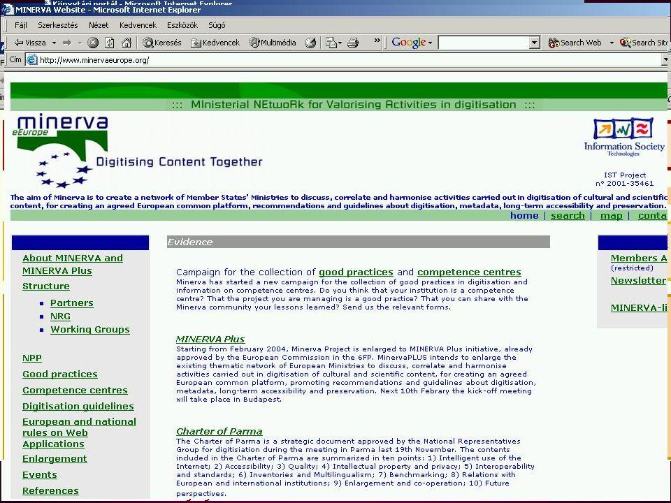 Szervezetek •MKE Elektronikus Könyvtári Szekció –e-dokumentumok kezelése, e-könyvtárak építése –Könyvtárkapu •MEK Egyesület –a MEK támogatása, e-publikálás, határon túli magyarok támogatása.