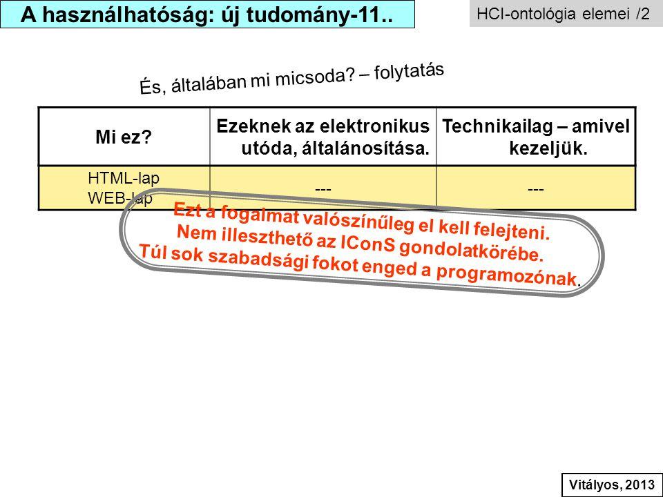 Mi ez? Ezeknek az elektronikus utóda, általánosítása. Technikailag – amivel kezeljük. HTML-lap WEB-lap --- Ezt a fogalmat valószínűleg el kell felejte