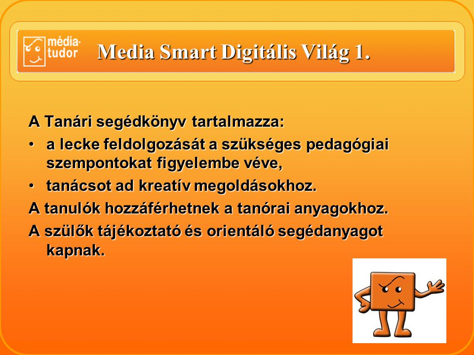 Media Smart Digitális Világ 1.