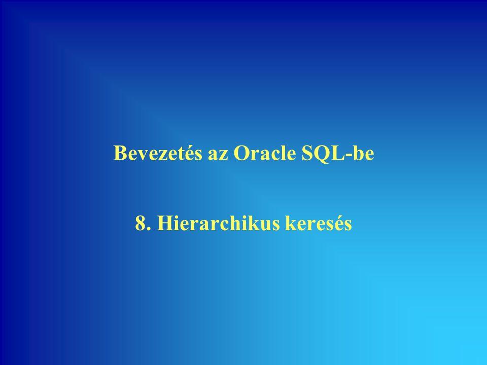 Bevezetés az Oracle SQL-be 8. Hierarchikus keresés