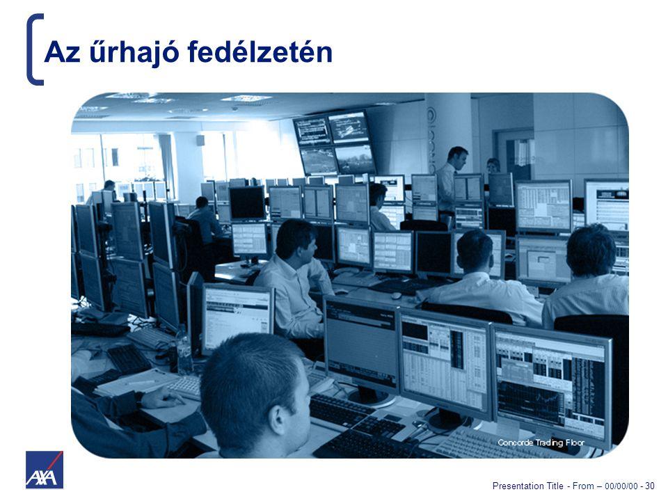 Presentation Title - From – 00/00/00 - 30 Az űrhajó fedélzetén