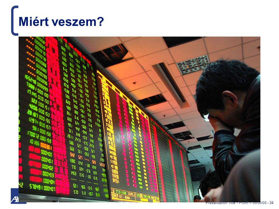 Presentation Title - From – 00/00/00 - 34 Miért veszem
