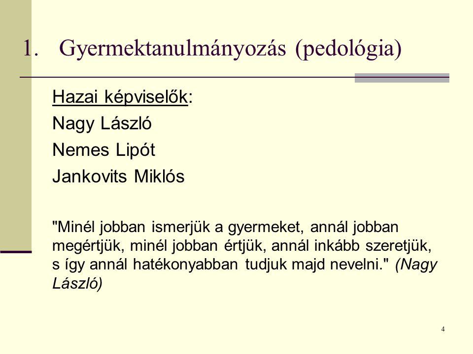 4 Hazai képviselők: Nagy László Nemes Lipót Jankovits Miklós