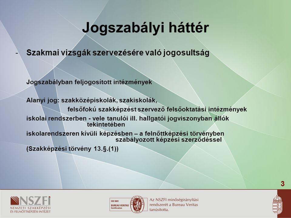 24 Jogszabály mellékletei  modulzáró vizsgáról igazolás (20/2007.( V.21.) SZMM r.
