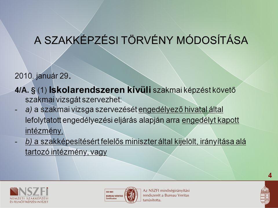 45 Vizsgaprogram 20/2007.SZMM rendelet 37.§.7.
