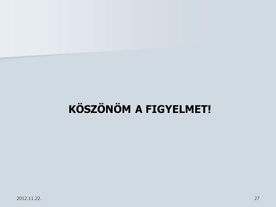 2012.11.22.27 KÖSZÖNÖM A FIGYELMET!