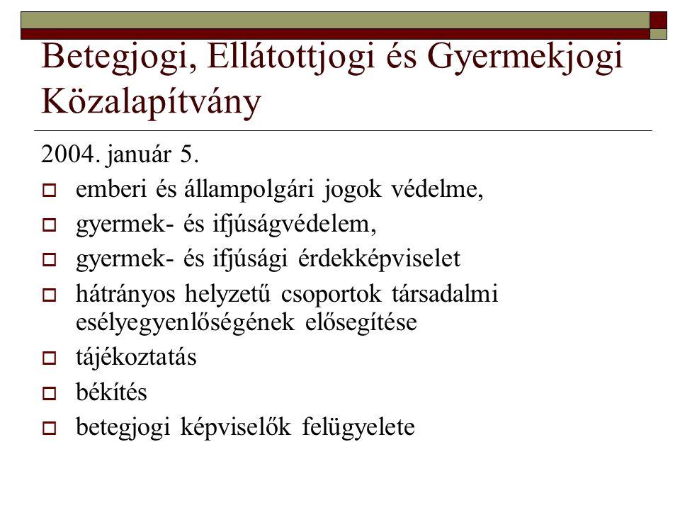 Betegjogi, Ellátottjogi és Gyermekjogi Közalapítvány 2004.