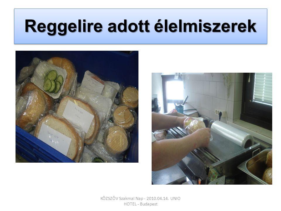 Reggelire adott élelmiszerek KÖZSZÖV Szakmai Nap - 2010.04.14. UNIO HOTEL - Budapest