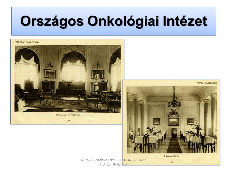 Országos Onkológiai Intézet KÖZSZÖV Szakmai Nap - 2010.04.14. UNIO HOTEL - Budapest