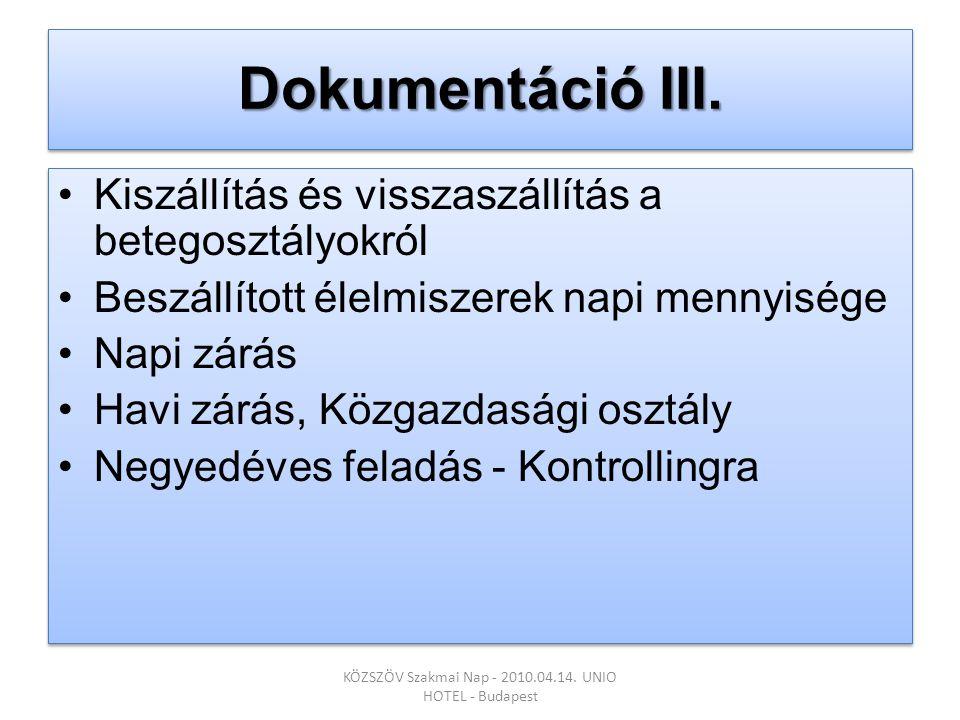 Dokumentáció III.