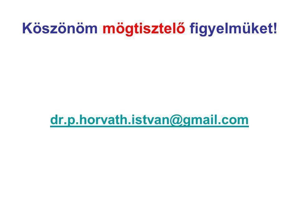 Köszönöm mögtisztelő figyelmüket! dr.p.horvath.istvan@gmail.com