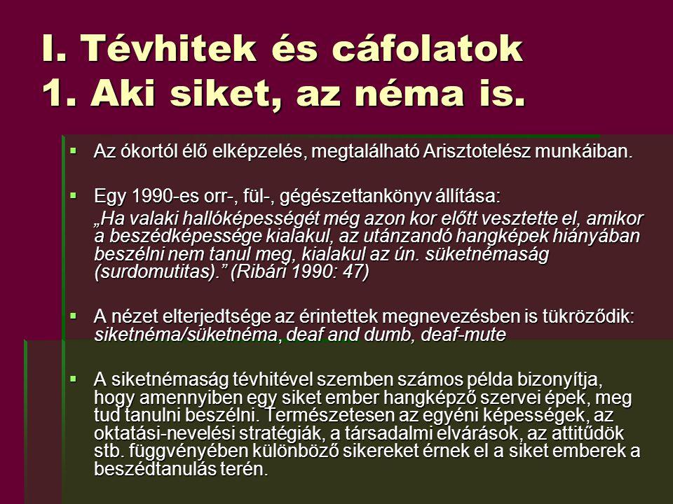 V.A siketek kétnyelvűségének sajátos vonásai 2.