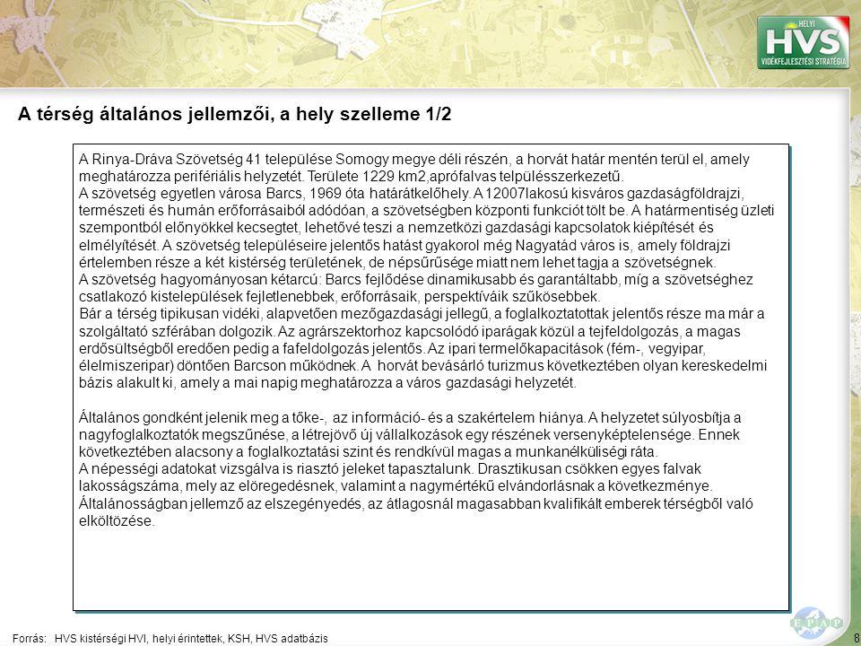 8 A Rinya-Dráva Szövetség 41 települése Somogy megye déli részén, a horvát határ mentén terül el, amely meghatározza perifériális helyzetét.
